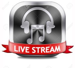 Music live stream button